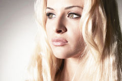Beautiful tender blond woman Stock Images