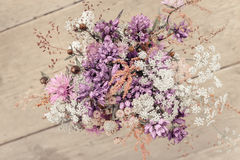 Beautiful tender bouquet of summer meadow flowers Stock Images