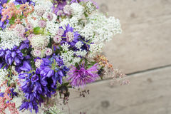 Beautiful tender bouquet of summer meadow flowers Stock Photo