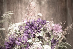 Beautiful tender bouquet of summer meadow flowers Royalty Free Stock Images