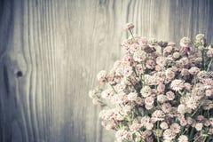Beautiful tender bouquet of summer meadow flowers Stock Photos