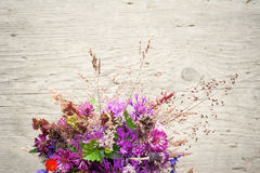 Beautiful tender bouquet of summer meadow flowers Stock Photography