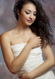 Beautiful and tender brunette woman Royalty Free Stock Image