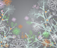 Beautiful tender floral illustration Royalty Free Stock Photography