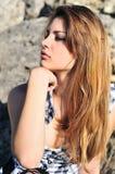 Beautiful tender teen girl outdoors Royalty Free Stock Image