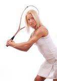 Beautiful tennis player Stock Photos