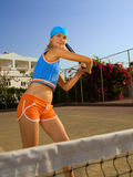 Beautiful tennis player Royalty Free Stock Photo