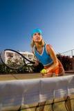 Beautiful tennis player Stock Image