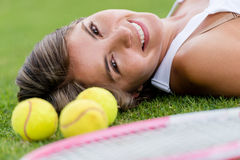 Beautiful tennis player Royalty Free Stock Photos