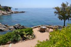 Beautiful terrace on a coast Stock Images