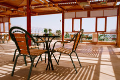 The beautiful terrace of the hotel, Egypt Royalty Free Stock Image