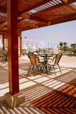 The beautiful terrace of the hotel, Egypt Stock Photos
