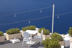 Beautiful terrace over the sea Stock Images