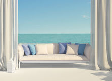 Beautiful terrace overlooking the sea Royalty Free Stock Photo