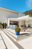 Beautiful terrace of a penthouse Stock Image