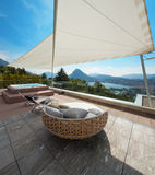 Beautiful terrace of a penthouse Stock Photography
