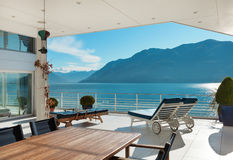 Beautiful terrace of a penthouse royalty free stock photo