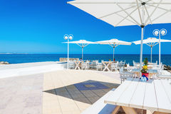 Beautiful terrace with sea view Stock Image