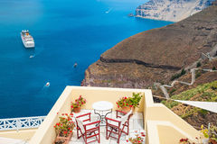 Beautiful terrace with sea view Royalty Free Stock Image