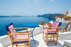 Beautiful terrace with sea view Stock Photography
