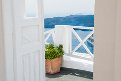 Beautiful terrace with sea view Stock Photo
