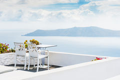 Beautiful terrace with sea view Royalty Free Stock Photo