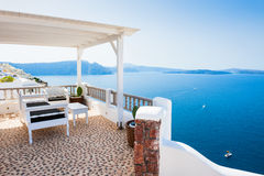 Beautiful terrace with sea view Royalty Free Stock Photography