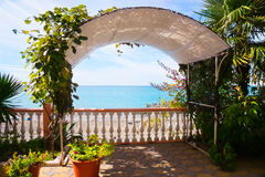 Beautiful terrace on the seashore Royalty Free Stock Images