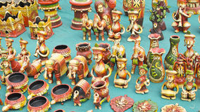Beautiful Terracotta Art Pieces And Figurine Stock Images
