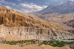 Beautiful Tetang village in Upper Mustang. Beautiful Tetang village in Upper Mustang province, Himalayas, Nepal. Version 2 royalty free stock photography