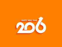 Beautiful text design of happy new year 2016 Royalty Free Stock Photo