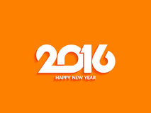 Beautiful text design of happy new year 2016 Royalty Free Stock Images