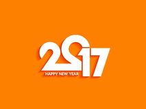Beautiful text design of happy new year 2017 Stock Photos
