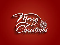 Beautiful text design of Merry Christmas on red co Royalty Free Stock Image