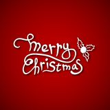 Beautiful text design of Merry Christmas on red Stock Photos