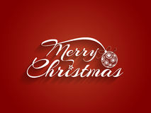 Beautiful text design of Merry Christmas Royalty Free Stock Images