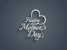 Beautiful text design for Mother's day. Royalty Free Stock Images