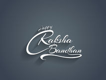 Beautiful text design of Raksha Bandhan. Royalty Free Stock Images
