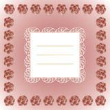 Beautiful text frame. Decorative text frame with lace and roses vector illustration