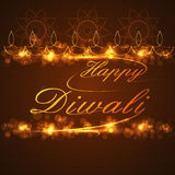 Beautiful text Happy Diwali for festival background Royalty Free Stock Images