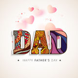 Beautiful text for Happy Fathers Day celebration. Royalty Free Stock Photography