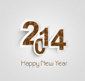 Beautiful text happy new year 2014 creative. Design Royalty Free Illustration