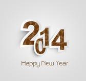 Beautiful text happy new year 2014 creative  Stock Photography