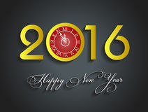 Beautiful text Happy New Year 2016 with fireworks Royalty Free Stock Images