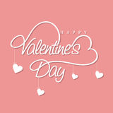 Beautiful text with hearts for Valentine's Day celebration. Stock Images