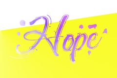 Beautiful Text Hope Colour Design Background. Beutiful color text hope design background give for your card Royalty Free Stock Photos