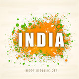 Beautiful text for Indian Republic Day celebration. Stock Images