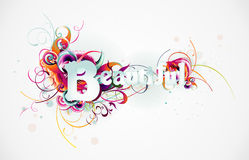 Beautiful text vector Stock Image