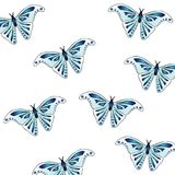 Beautiful texture animal print - butterflies. Wings of the insect are light blue with a beautiful indigo pattern. Stylish summer print Royalty Free Stock Image