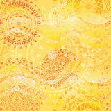 Beautiful texture with mandalas Stock Photo
